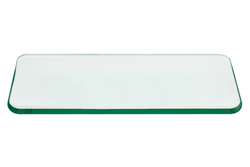 36x60 Inch Rectangle Glass Table Top, 1/2 Inch Thick, Flat Polished Edge, Radius Corners, Annealed