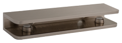 Brushed Nickel Rectangular Glass Shelf Bracket