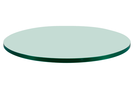 48 Inch Round Glass Table Top, 1/4 Inch Thick, Flat Polish Edge, Tempered Glass