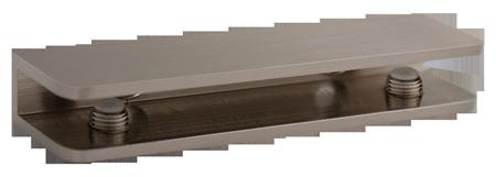 Brushed Nickel Rectangular Glass Shelf Bracket
