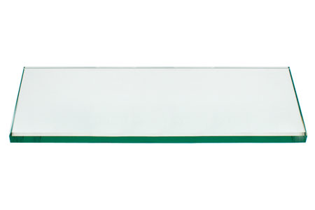 24x48 Inch Rectangle Glass Table Top, 1/4 Inch Thick, Flat Polished Edge, Eased Corners, Tempered