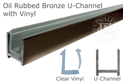 98 Quot Oil Rubbed Bronze Dry Glaze U Channel With Clear Vinyl