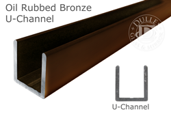 Oil Rubbed Bronze Deep U Channel For   Thick Glass