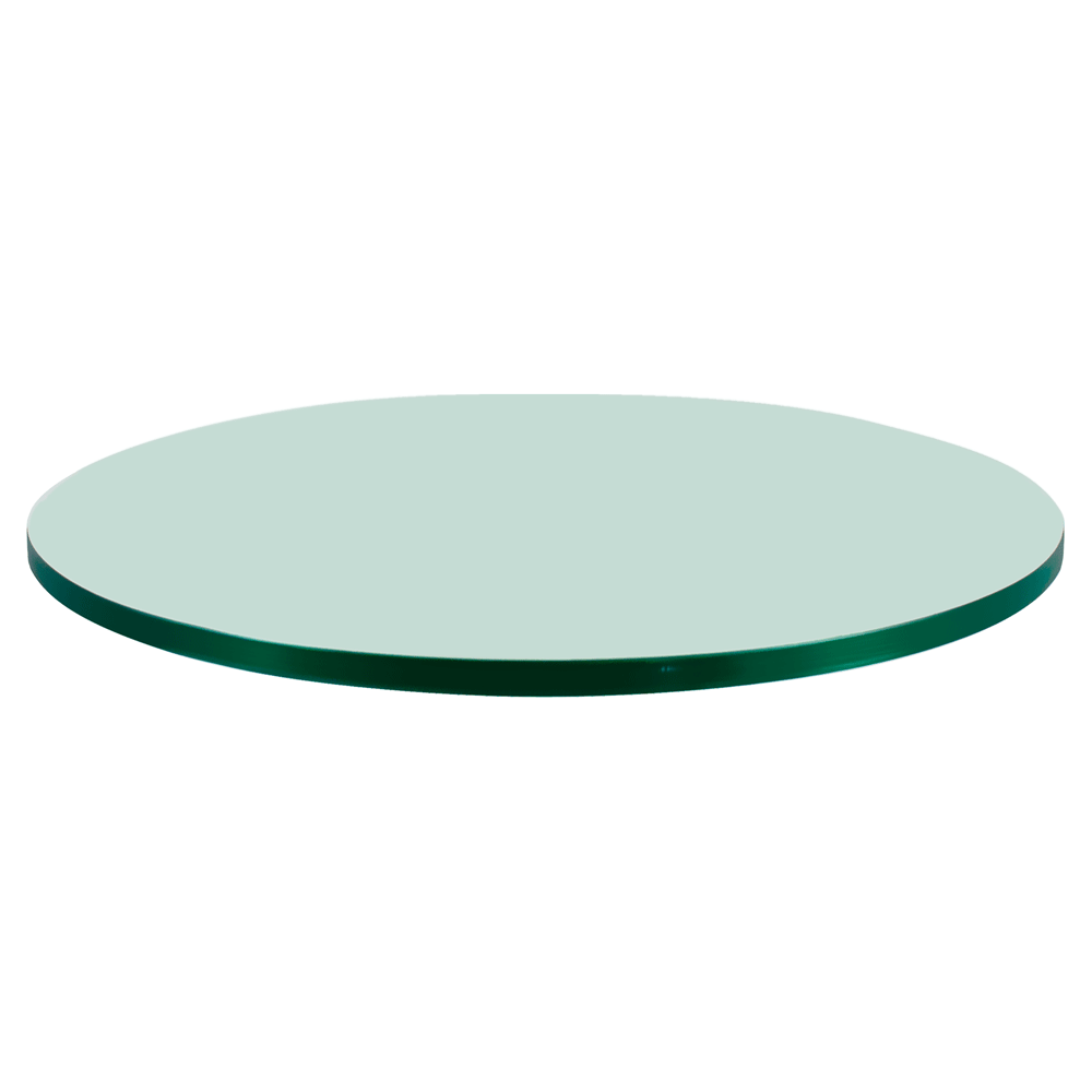 46 Inch Round Glass Table Top, 1/4 Inch Thick, Flat Polish Edge, Tempered Glass