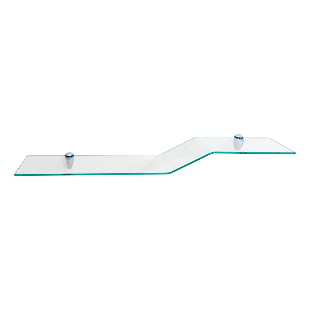 Zita Series Glass Shelf: Clear Glass SHGS-C01CCH